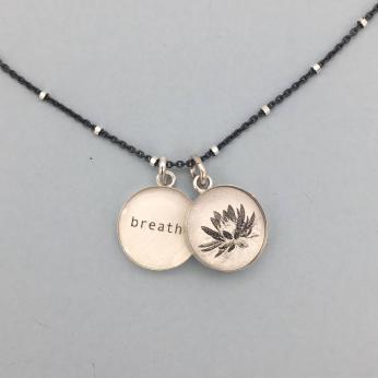 Waterlily Flower / BreatheBezel Pendant