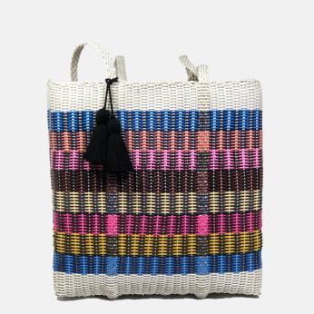 ixöq CESTA TOTE ex-large - multi color striped - unlined