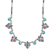 Turquoise Enameled Art Deco Collar Necklace