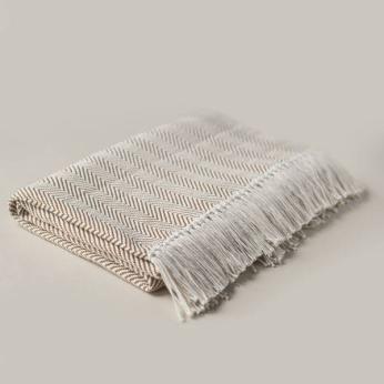 Handwoven Brown Blanket