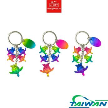 Sea Turtle 4 Charms Keychain/ Keyring/ Key Holder
