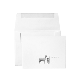 "Origin Unknown ""Hello There"" Letterpressed Llamas Card"