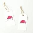 Holiday Gift Tags - Santa Hat