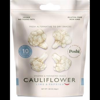Poshi - Steamed & Marinated Cauliflower - Lime & Paprika 1.58oz