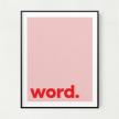 Word Unframed Art Print
