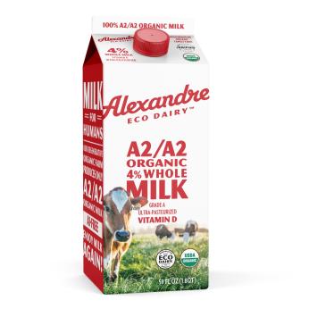 Alexandre Family Farm/EcoDairy A2/A2 Organic 59 oz. Whole Milk
