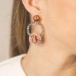 Handmade Upcycled Roses Earrings