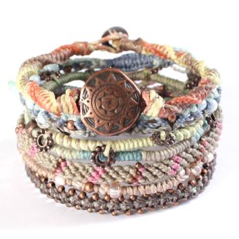 Pastel Earth Bracelet - Set of 7