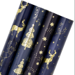"""WRAPAHOLIC CONSTELLATION FOIL WRAPPING PAPER BUNDLE - 30""""W X 10'L / ROLL - 4 ROLL BUNDLE"""