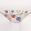 "Bohemia Jihlava 12"" Lisboa Fruit Bowl, Lead Crystal Dessert Bowl"