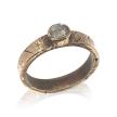 Raw Diamond and 14KT Gold Custom Diamond Ring
