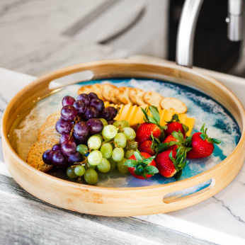 Bamboo Resin Accented Tray