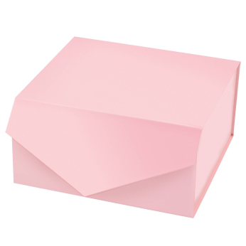 """8"""" X 8"""" X 4"""" COLLAPSIBLE GIFT BOX WITH MAGNETIC CLOSURE & 2PCS TISSUE PAPER - 12 STOCK COLORS"""