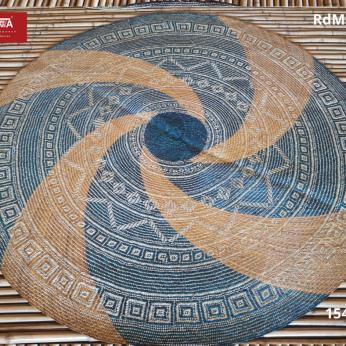 TWWA Tagolwanen Handwoven Sodsod Grass Round Mat (5 ft diameter)