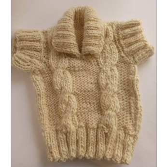Natural wool knitted sweater