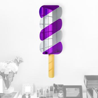Twisty Pop 3D Wall Art | Vibrant Acrylic Mirror Finish | Ready to Hang