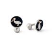 Albatross bird silver cufflink