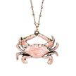 Coraline Crystal and Enamel Crab Necklace