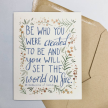 """St Catherine of Siena """"Be who you..."""" Greeting Card"""