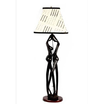 Lovers Lamp with Mudcloth Lampshade