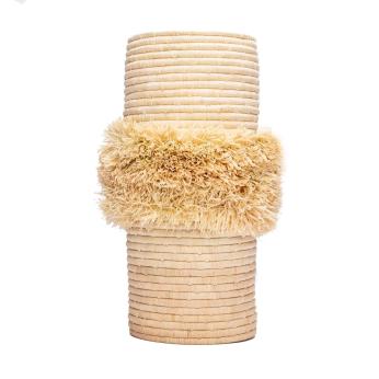All Natural Fringe Vase