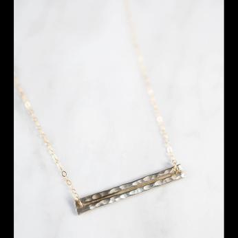 Double Horizon Bar Necklace