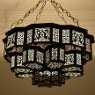 Moroccan Lantern Chandelier Pendant Lights,Black Moroccan Chandelier,Boho Chandelier,Living room Chandelier