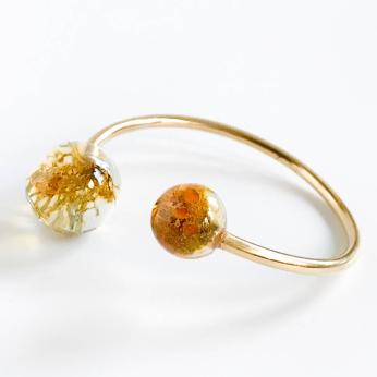 Botanical Adjustable Golden Moss Bracelet