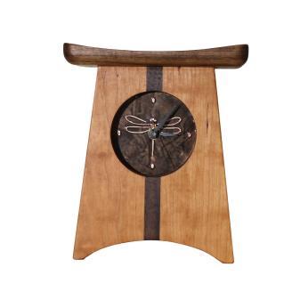 East of Appalachia Mantel Clock, Bronze Dragonfly