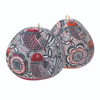 Lace Birds Gourd Ornament