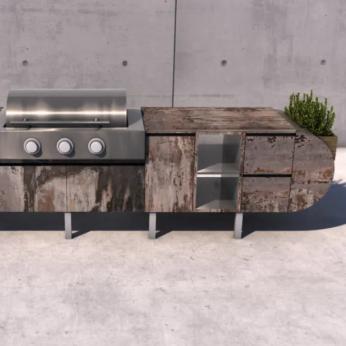 ASA-D2: A Modular Brown Jordan Outdoor Kitchen Designed by Daniel Germani