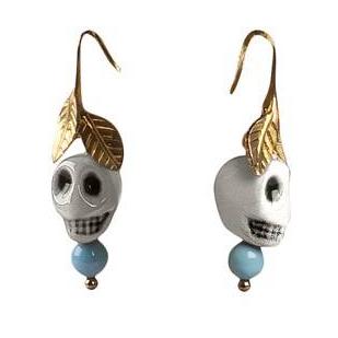Frida Kahlo Skull Earrings