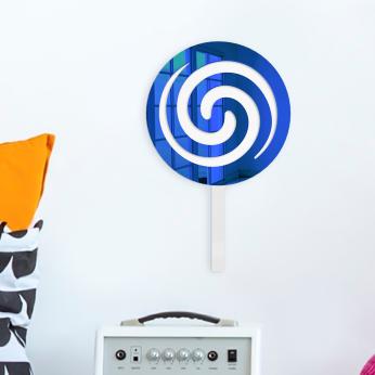 Swirly Pop Wall Decor | Mirror Acrylic Finish | Ready to Hang
