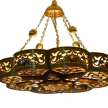 Gold oxidized Moroccan Lighting Hanging Brass Chandelier