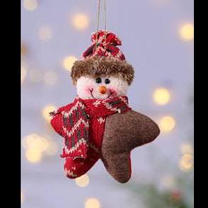 Star Snowman Hanging Ornament