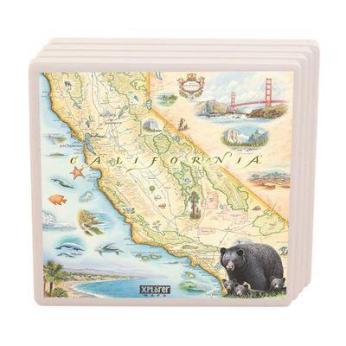 XPLORER MAPS Coaster: Ceramic hand-drawn map coaster