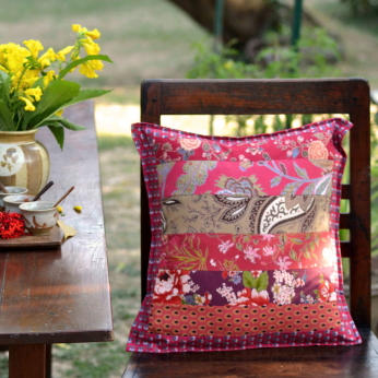 Red Patchwork - Cushion Covers