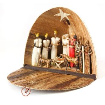 Banana Fiber Dome Nativity Scene