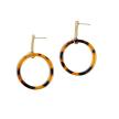 Drop Circle Earrings