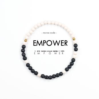 Morse Code Bracelet // Empower