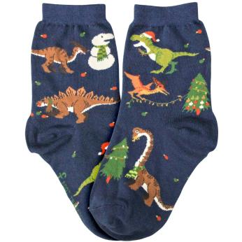 Tree-Rex Holiday Dinosaur Socks