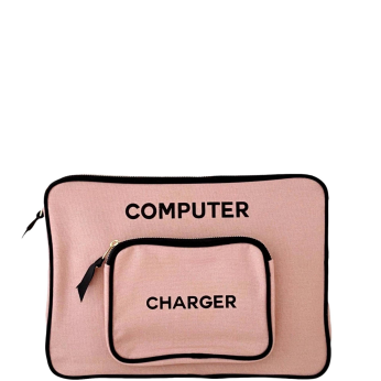 Computer Case with Charger pocket, Pink Small