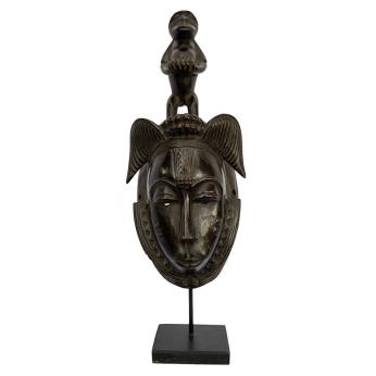 Baule Mask on stand - Natural