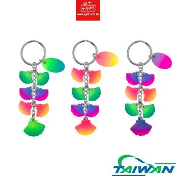 Sea Shell 7 Charms Keychain/ Keyring/ Key Holder