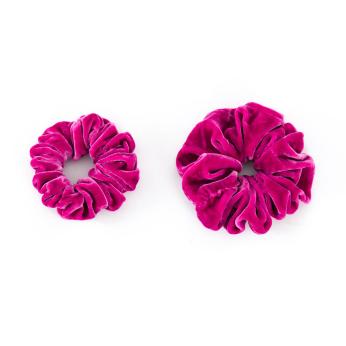 Velvet Scrunchies set   Tokyo Pink
