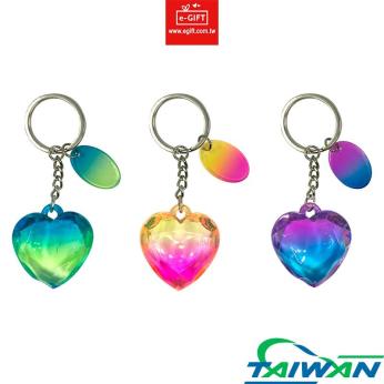 Diamond Heart Jumbo Keychain/ Keyring/ Key Holder