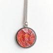 Necklace pendant orangesalmon