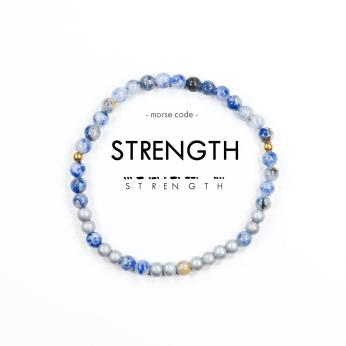 Morse Code Bracelet // Strength