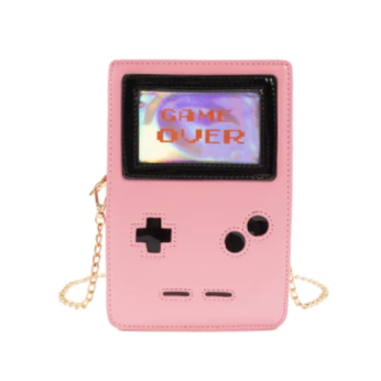 Retro 8-Bit Gamer Handbag Pink