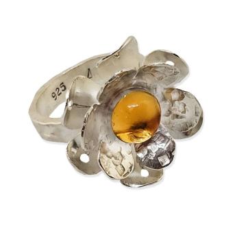 Starburst sterling ring